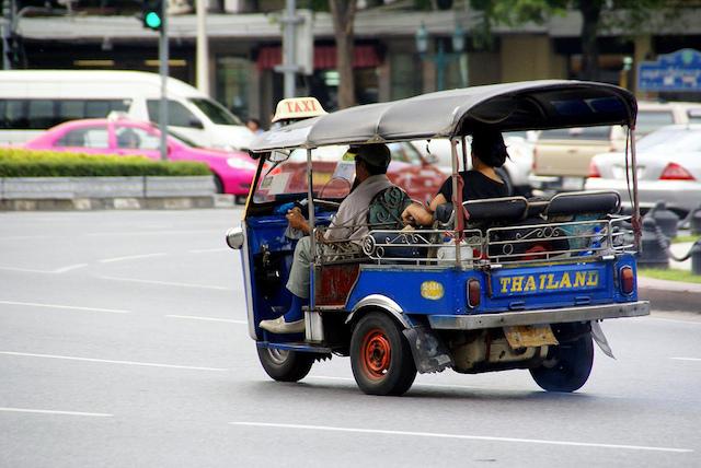Tuk-tuk en Thailande