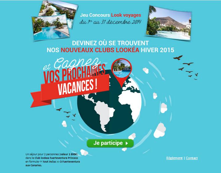 Look Voyages Jeu Concours